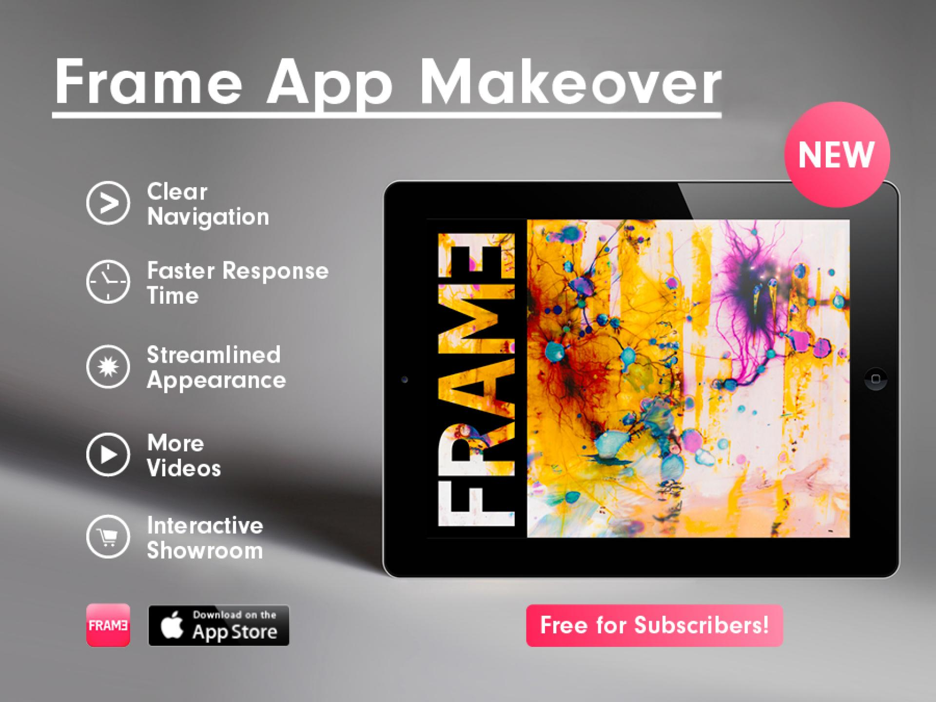 Frame New Frame App August Edition Out Now