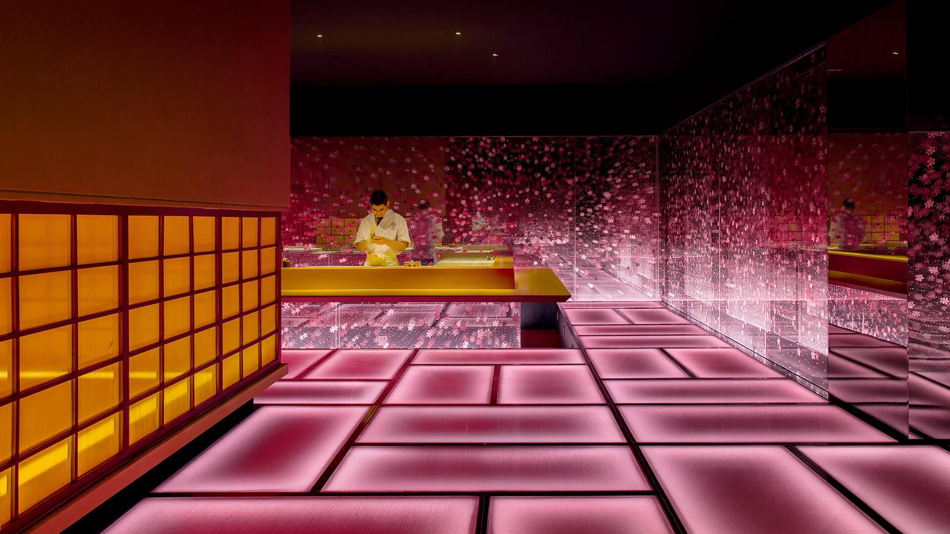 Frame This Radiant Virtual Like Labyrinth Is Really A Japanese Restaurant In Shanghai