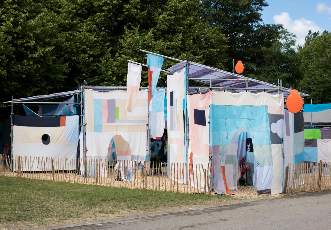 Frame How To Build A Blanket Fort Temporary Set Design At Roskilde Festival And Chart Art Fair
