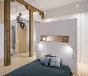 The main bedroom is connected to the biggest bathroom and with the option that both could be isolated from the rest of the house simply adding a door from floor to ceiling.   | credits: Imagen Subliminal